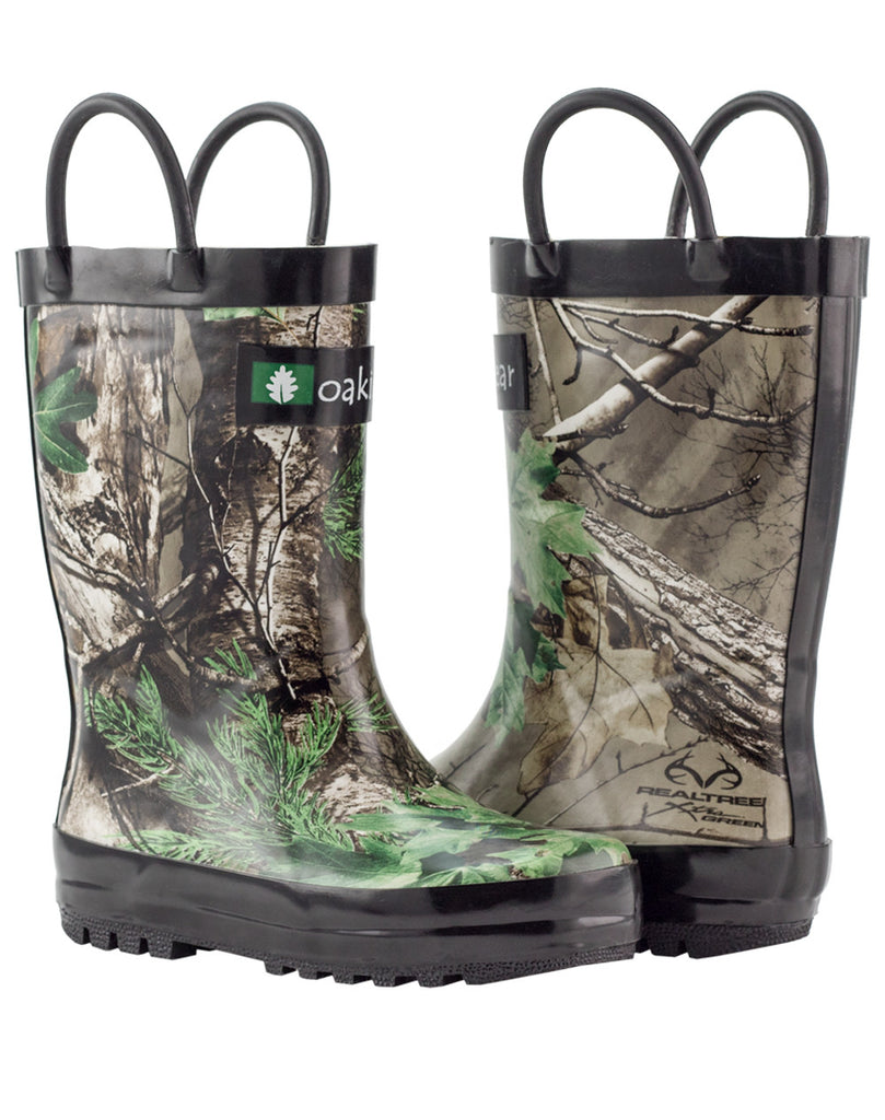 Xtra Green Camo Loop Handle Rubber Rain Boots