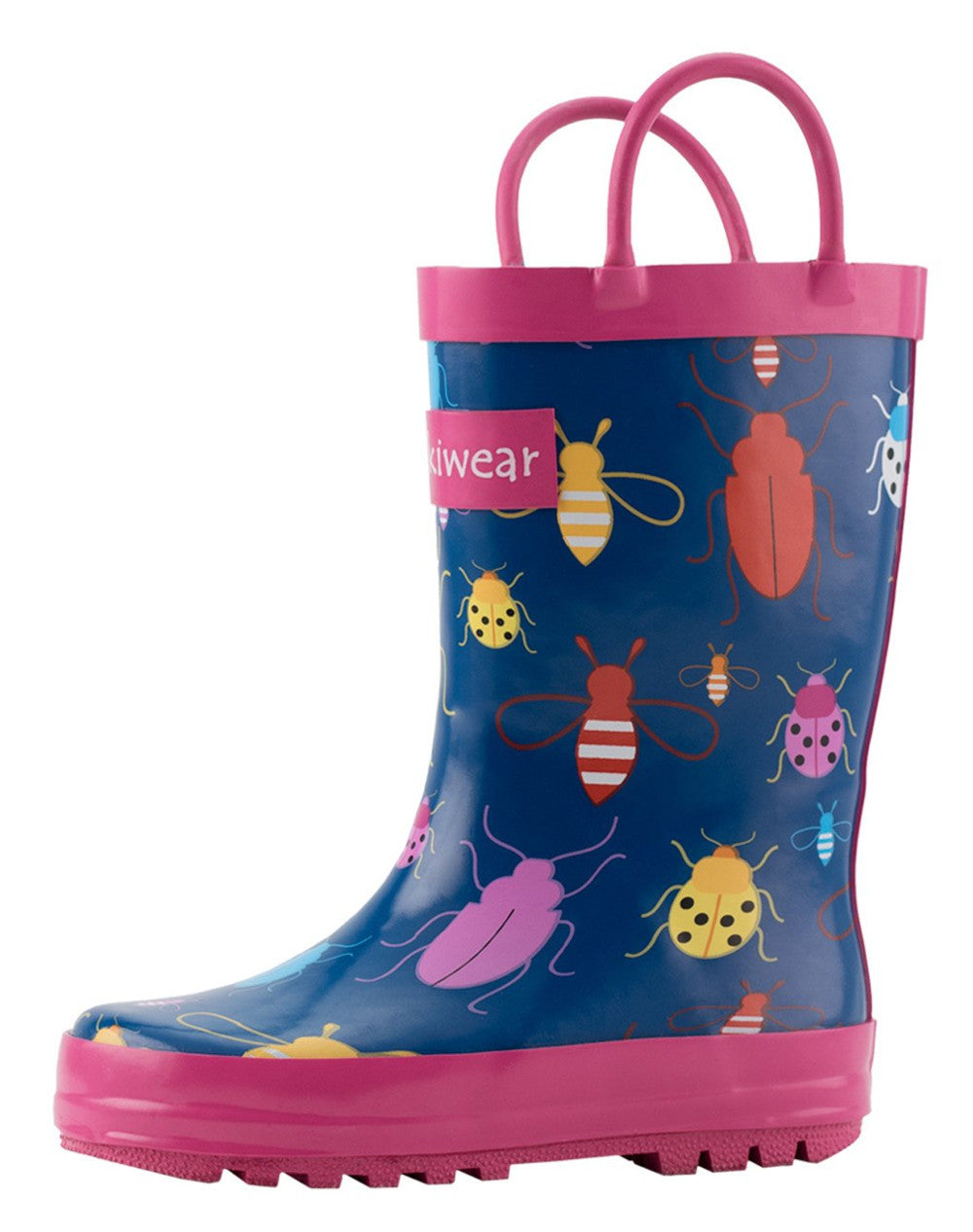 Bees, Beetles, and Lady Bugs Loop Handle Rubber Rain Boots