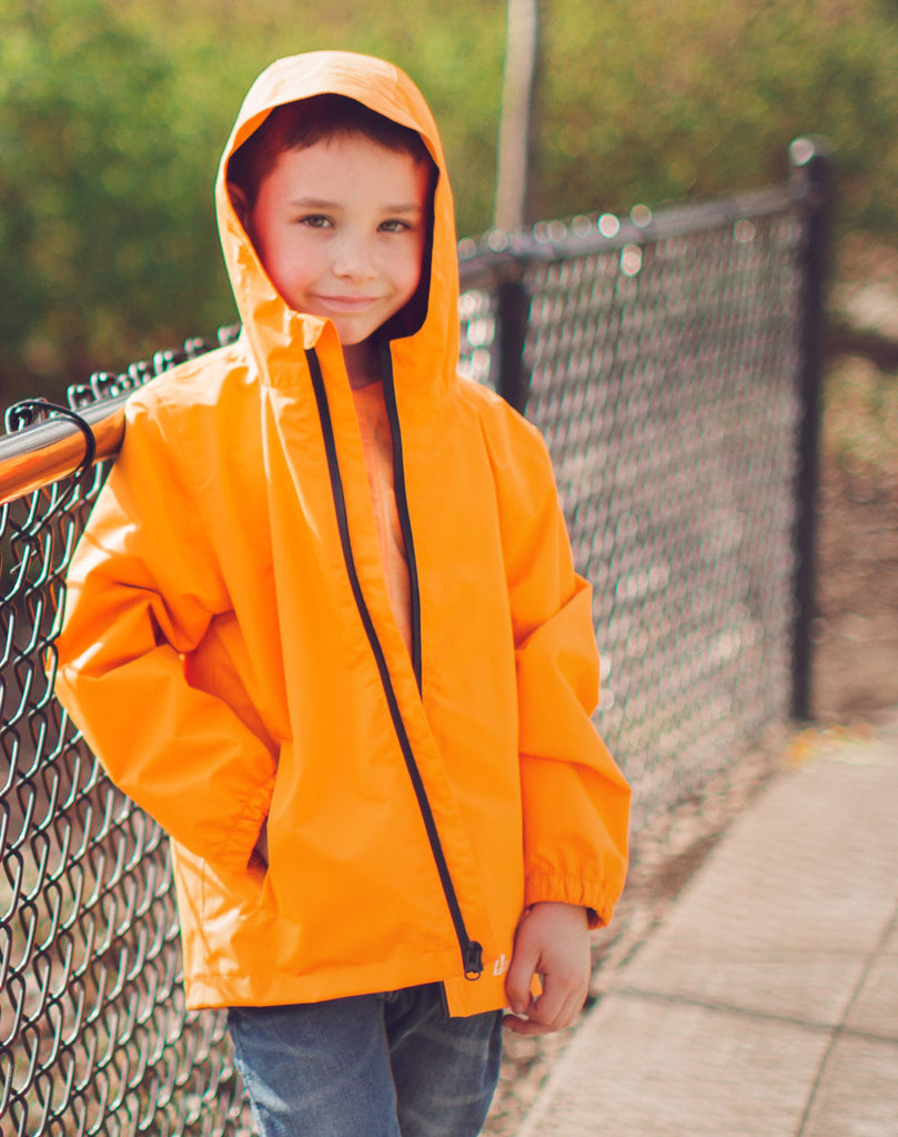 Lava Orange Core Rain Jacket