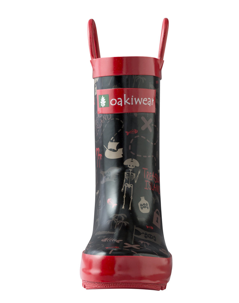 Pirate Treasure Loop Handle Rubber Rain Boots