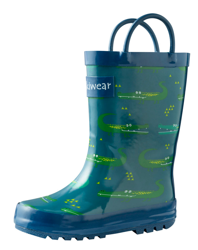 Crocodiles Loop Handle Rubber Rain Boots