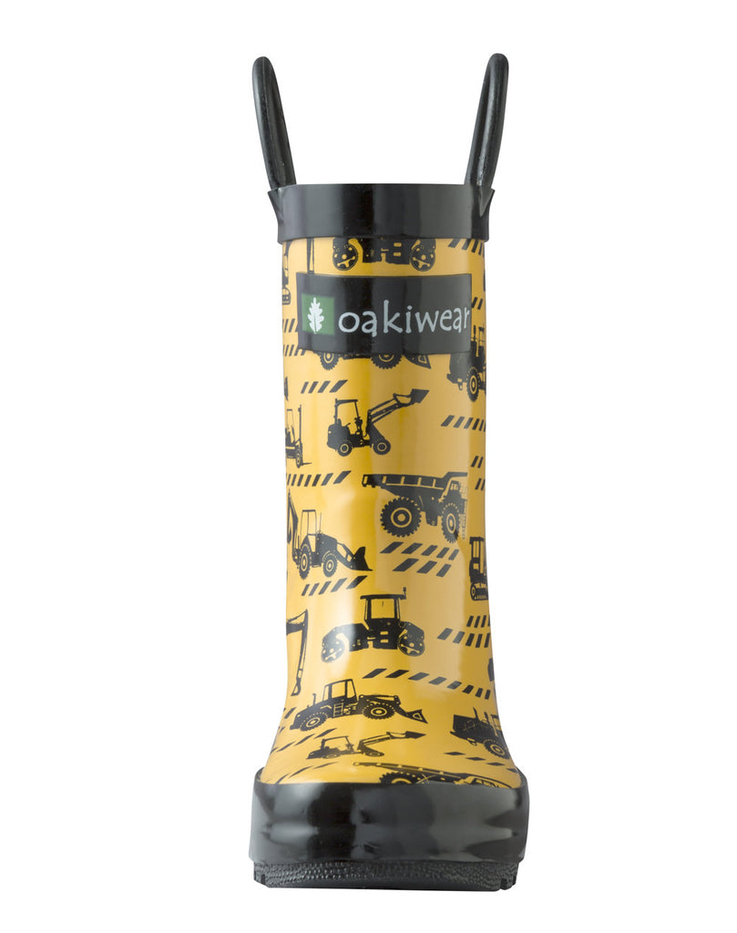 Construction Vehicles Loop Handle Rubber Rain Boots