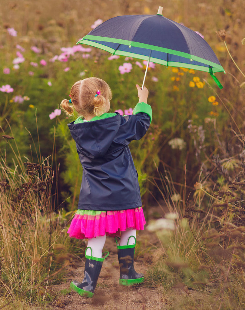 Navy & Green Children's Umbrella
