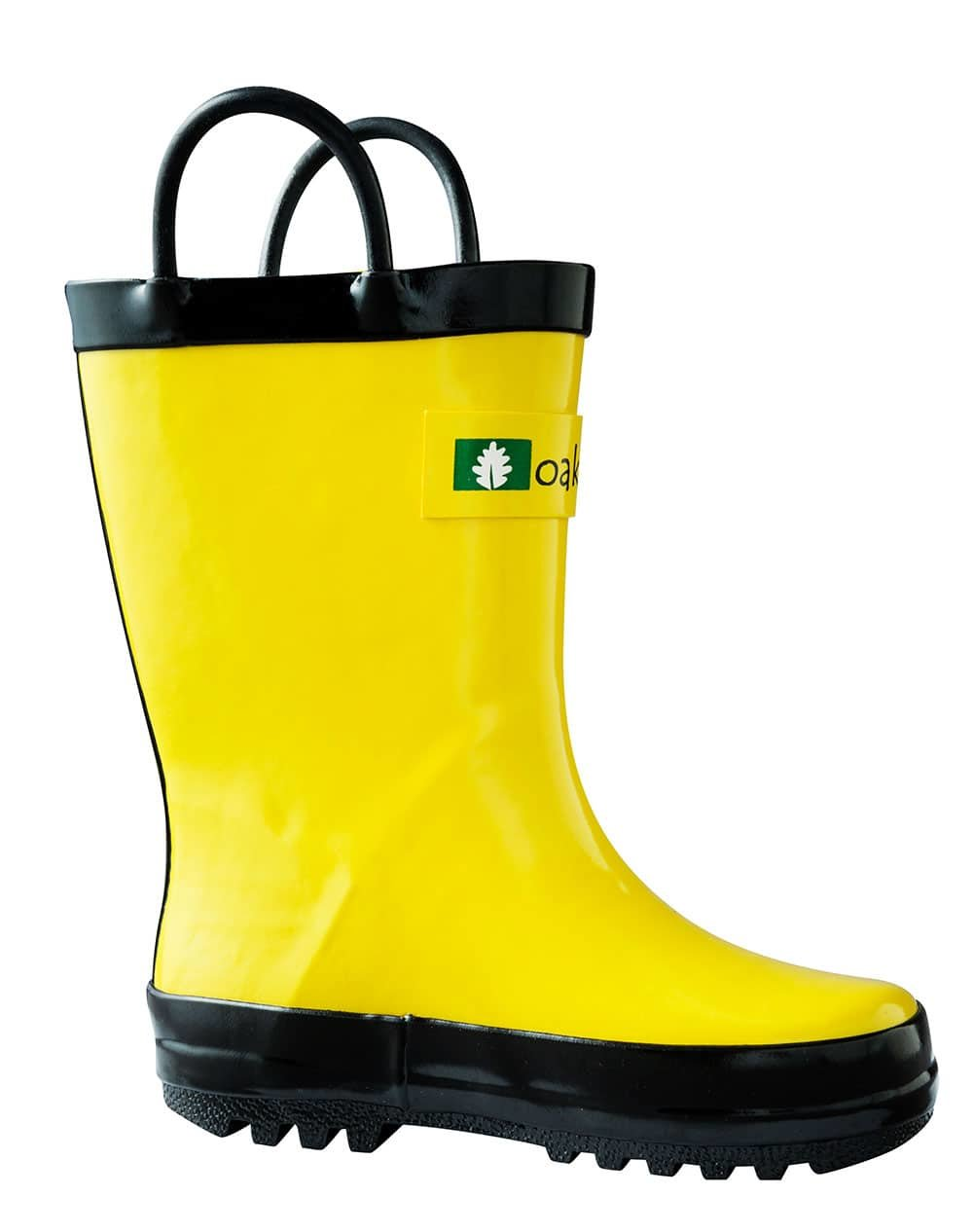 Children's Rubber Rain Boots, Yellow & Black