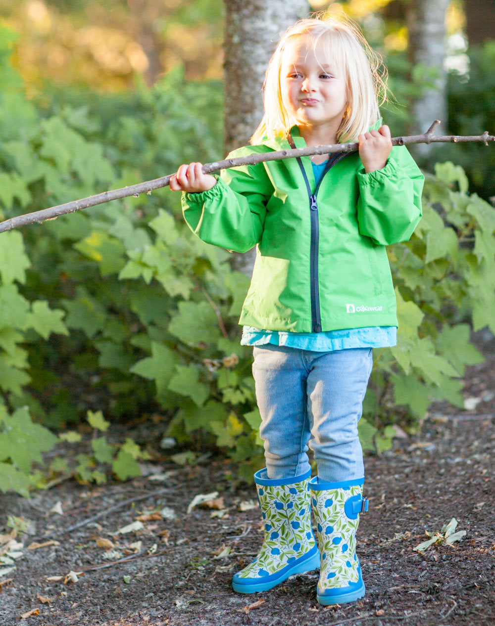 Sweet Blueberries Buckle Rubber Rain Boots