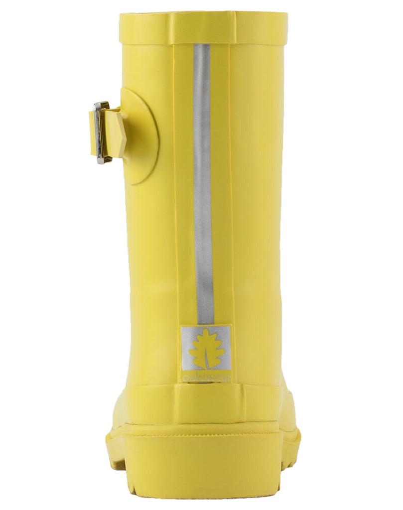 Classic Yellow Buckle Rubber Rain Boots