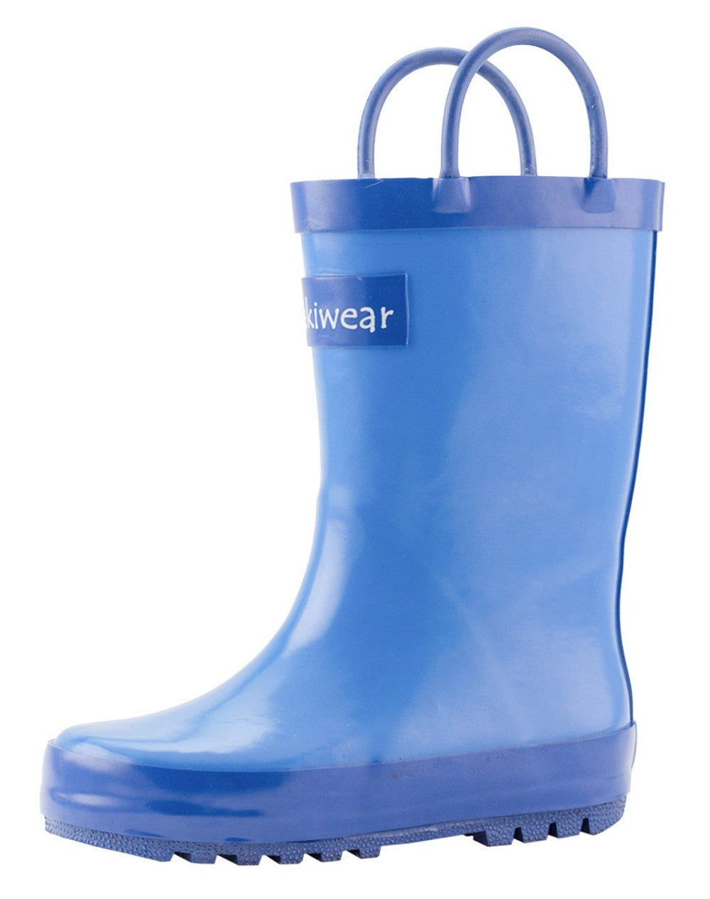 Cobalt Blue Loop Handle Rubber Rain Boots