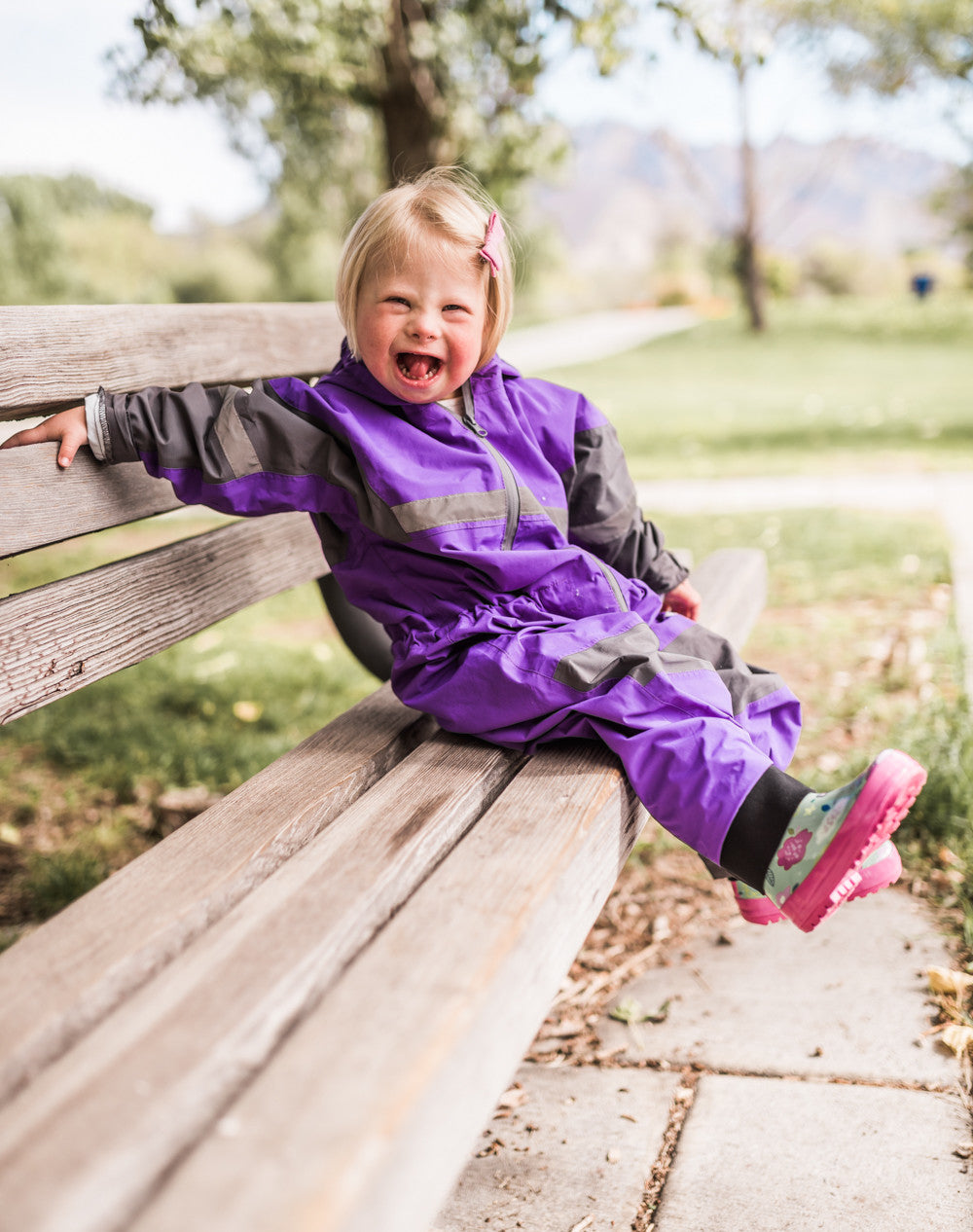 Deep Purple Trail One Piece Rain Suit