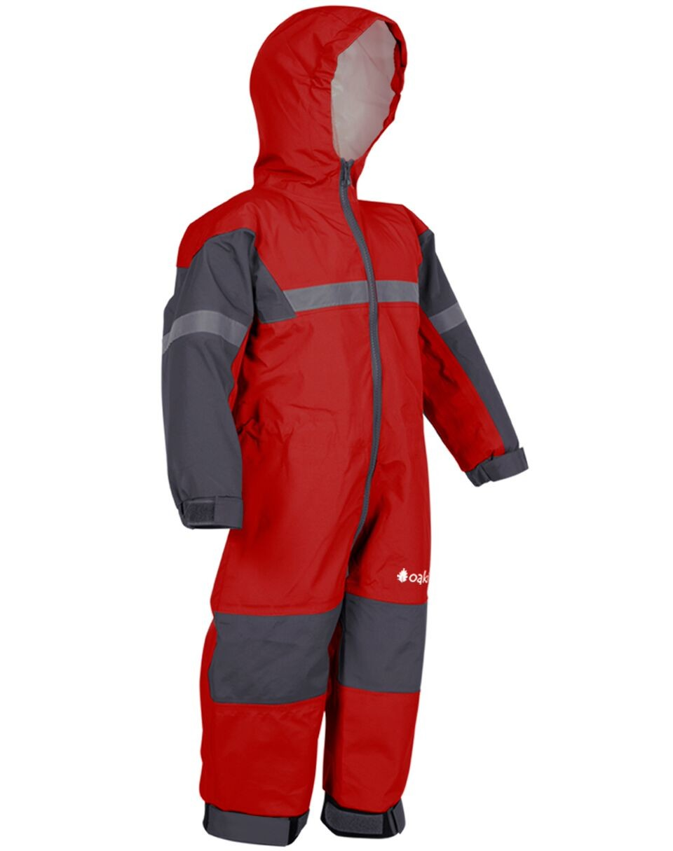 Deep Red Trail One Piece Rain Suit