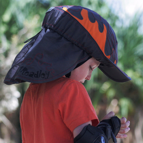Treadley Helmet Hats Flames Bicycle Helmet Cover