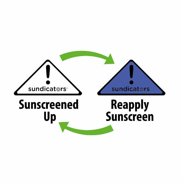 Sunscreen Reminder Sticker. UV Sticker. Colour-changing sticker.