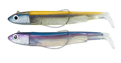 Fiiish Black Minnow 120 Off Shore Double Combo (25 g Head) Gold and Blue (+Rattle) + Rainbow (+Rattle) BM783