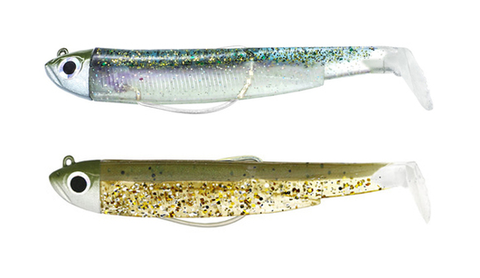 Fiiish Black Minnow 120 Shore Double Combo (12 g Head) Khaki Glitter + Ghost Minnow BM780
