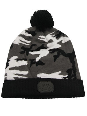 RidgeMonkey Camo Bobble Hat Black