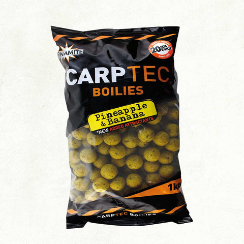Dynamite Baits CarpTec Pineapple and Banana Boilies DY1151
