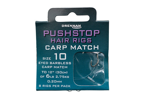 Drennan Pushstop Hair Rigs Carp Match HNQCMA008