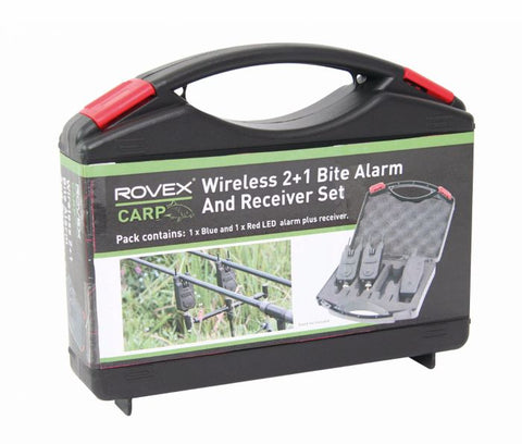 Rovex Carp Wireless 2+1 Bite Alarm and Receiver Set