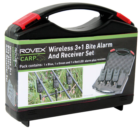 Rovex Carp Wireless 3+1 Bite Alarm and Receiver Set
