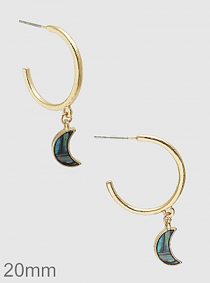 Abalone and the Moon Earrings