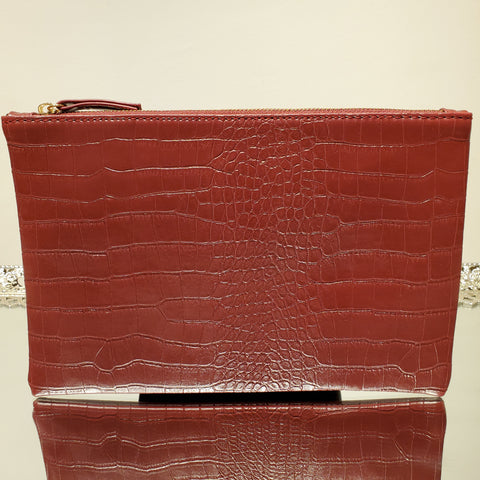Crock Faux Leather Wine Envelope Clutch