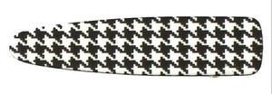 Faux Leather Houndstooth Print Hair Clip