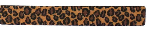 Faux Leather Leopard Print Hair Clip