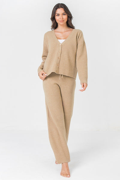 Chunky Camel Sweater Pants