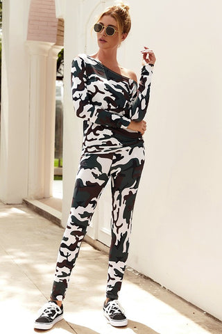 Disguise in Camouflage Casual Matching Set