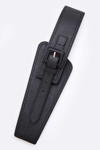 The Wider the Better Faux Leather Stretch Belt