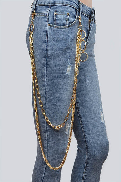 Gold Layered Pants Chain