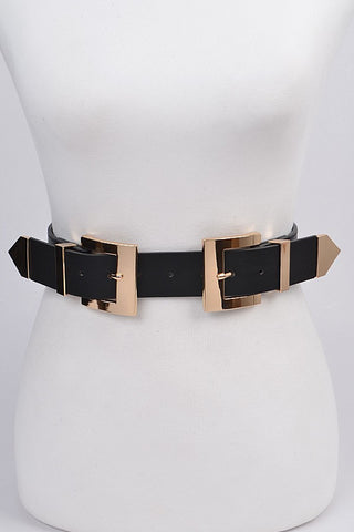 Double It Up Buckle Stretch Belt