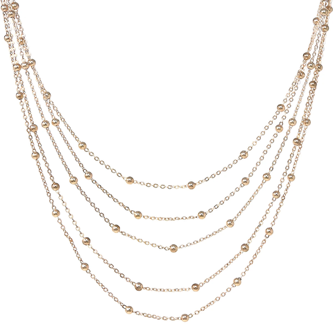 Ball Bead Floating Layered Necklace