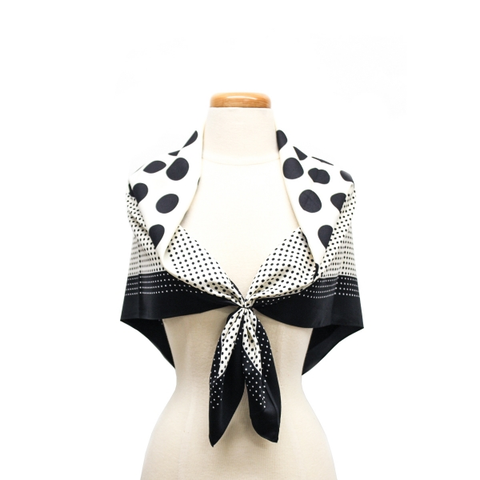 Neck Tie! Hair Tie! Printed Square Scarf