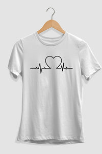Heart Beats and Pulse Graphic T-Shirt