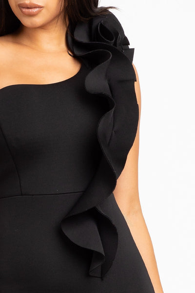 Ruffle Me Up Scuba Gown