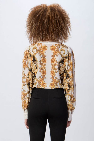 Baroque Print Bodysuit Top