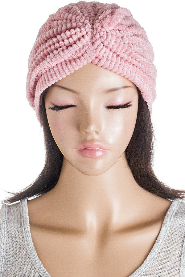 Powder Pink Plush Stretch Turban