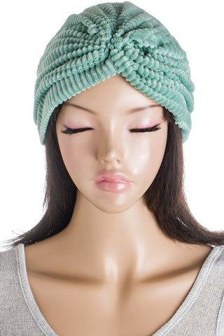 Minty Plush Stretch Turban