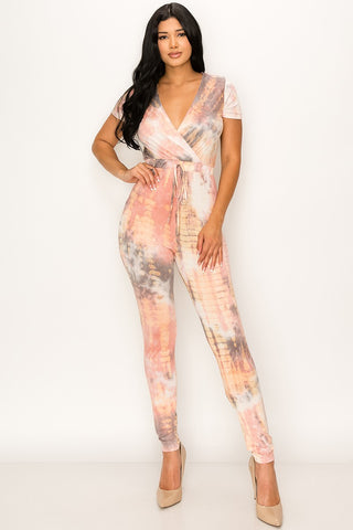 Peaches and Cream Tie Dye Jumpsuit