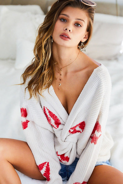 Pucker Up Kisses Twisted Sweater