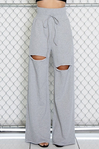 Cut It Out Wide French Terry Sweats