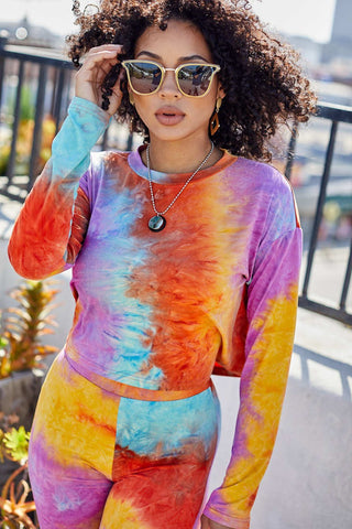 Sunburst of Tie Dye Crop Top