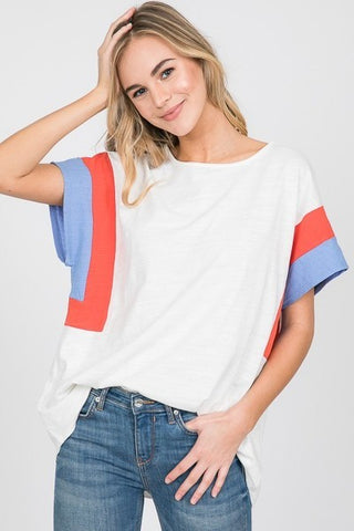 You Color Blocked Me T-Shirt Top