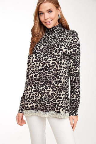 Laced in Leopard Top