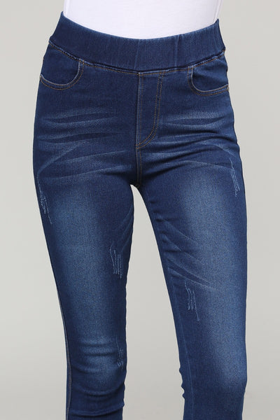 Stretch Pull Up Denim Skinny Jeggings