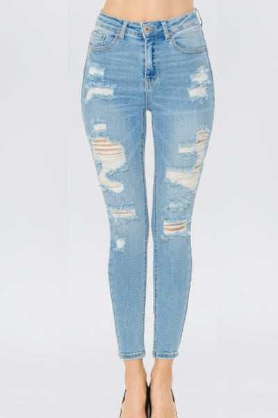 Blue Blue Distressed in High Waist Denim