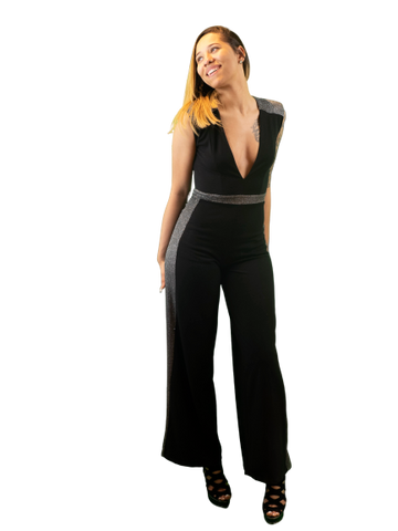 Glitter Me Badd Stretch Jumpsuit