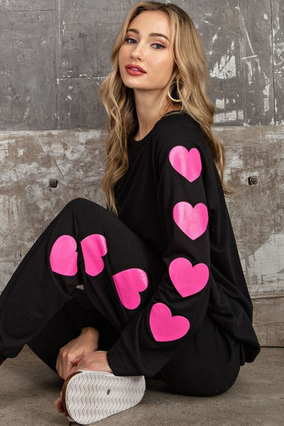 Hearts Frenchie Sweat Top