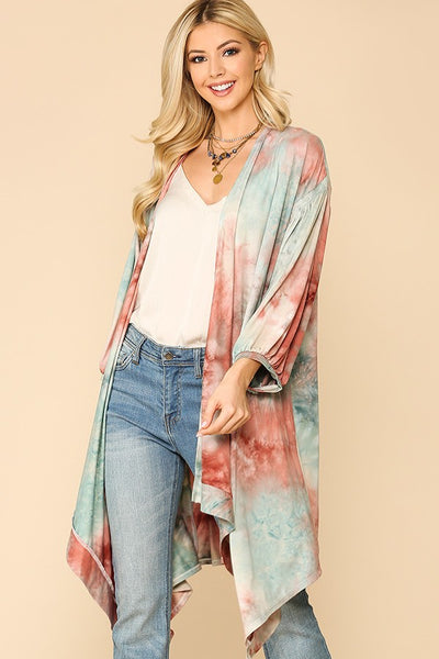 Marbleized in Tie Dye Cardigan