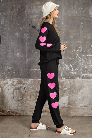 Hearts Frenchie Sweat Pants